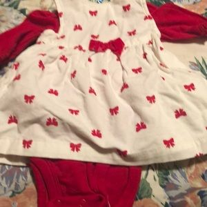 baby girl dress and onsie